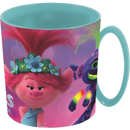 TAZA MICROONDAS TROLLS WORLD TOUR