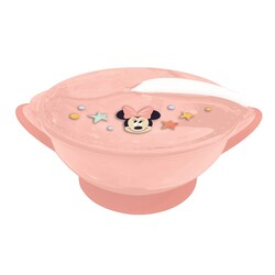 BOWL ANTIVUELCO C/TAPA Y CUCHARA MINNIE