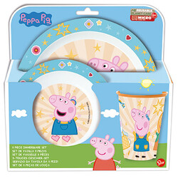 VAJILLA MICRO 3 PCS PEPPA PIG