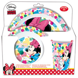 VAJILLA MICRO 3 PCS MINNIE MOUSE