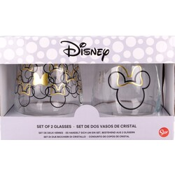 SET 2 VASOS CRISTAL MINNIE MOUSE