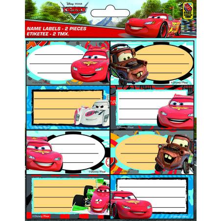 STICKER NOMBRE CARS