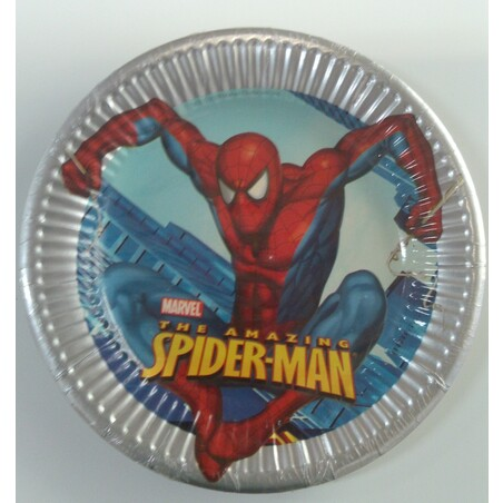 8 PLATOS 20CM.SPIDERMAN CLASSIC