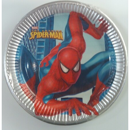 8 PLATOS 23CM. SPIDERMAN CLASSIC
