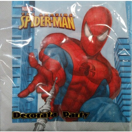 20 SERVILLETAS 33*33 SPIDERMAN