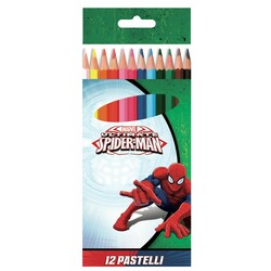 12 LÁPICES COLORES SPIDERMAN