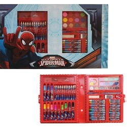 SET COLOREAR 80PCS. SPIDERMAN