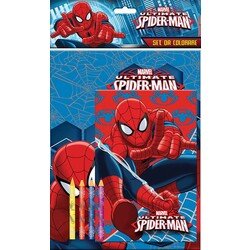 SET COLOREAR CON 4 COLORES SPIDERMAN