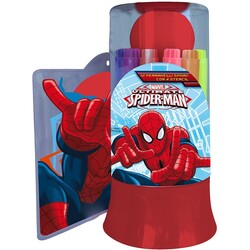 12 ROTULADORES SPRAY PLANTILLAS SPIDERMAN