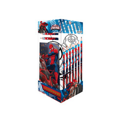CAJA TRANSPARENTE 25PCS SPIDERMAN