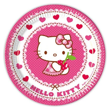 PACK 10 PLATOS 23cm. HELLO KITTY HEARTS