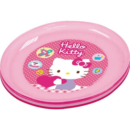 4 PLATOS HELLO KITTY