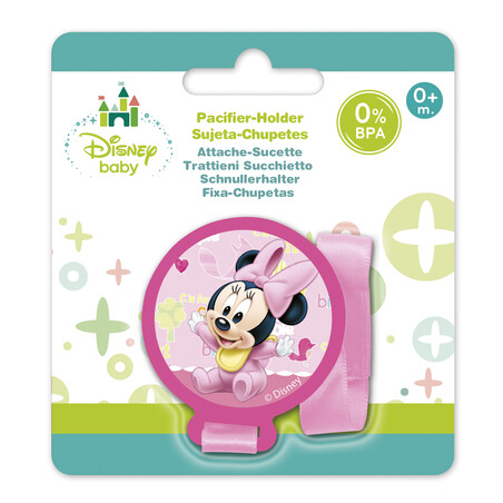 SUJETA CHUPETE MINNIE BABY PAINT POT