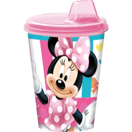 SET 3 VASOS PICNIC C/SIPPER MINNIE DOTS&BOWS