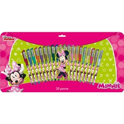 20 BOLIGRAFOS COLORES GEL MINNIE MOUSE