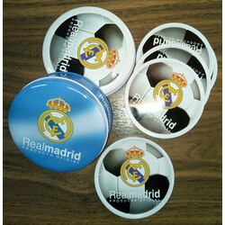 POSAVASOS 6 METALICOS REAL MADRID