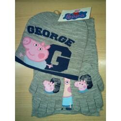 GORRO+GUANTES+BUFANDA PEPPA PIG