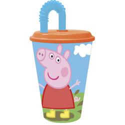 VASO CAÑA EASY 430 ml. PEPPA PIG