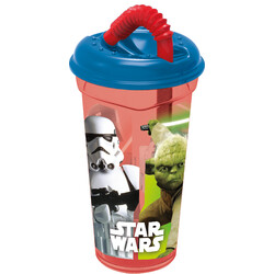 VASO CAÑA TRANSPARENTE 380ml. STAR WARS