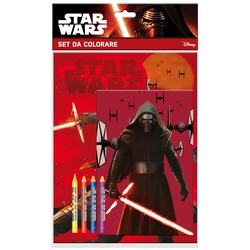 SET COLOREAR CON 4 COLORES STAR WARS
