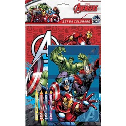SET COLOREAR 4 COLORES AVENGERS