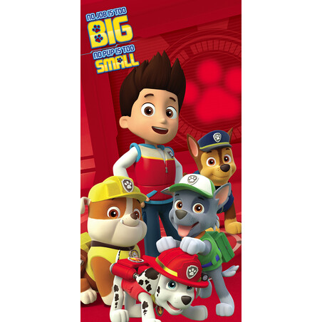 TOALLA 140*70 BIG SMALL PAW PATROL