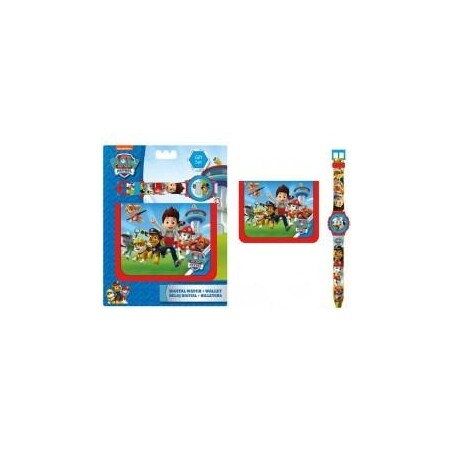 BILLETERO + RELOJ DIGITAL PAW PATROL