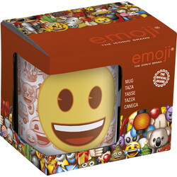 TAZA CERAMICA 325ml. C/CAJA EMOJI FACES