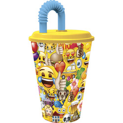 VASO CAÑA EASY 430ml. EMOJI