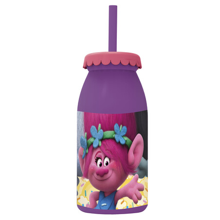 BOTELLA LECHE 300ML TROLLS