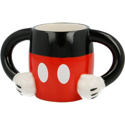 TAZA CERÁMICA 3D CUERPO MICKEY MOUSE