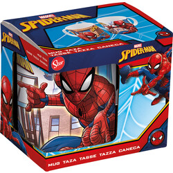 TAZA CERAMICA 325 ML. C/CAJA SPIDERMAN