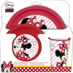VAJILLA 3 PCS MINNIE MOUSE