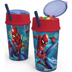 VASO SNACK 400 ML. SPIDERMAN GRAFFITI