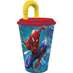 VASO CAÑA EASY 430 ML. SPIDERMAN GRAFFITI