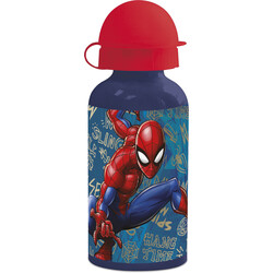 BOTELLA ALUMINIO PEQUEÑA 400 ML. SPIDERMAN GRAFFIT