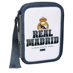PLUMIER 2 PISOS MATERIAL ESCOLAR REAL MADRID