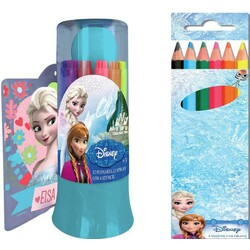 12 ROTULADORES SPRAY+6 LAPICES COLOR FROZEN