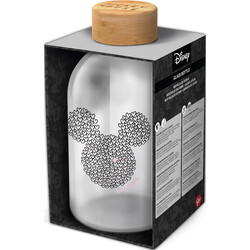 BOTELLA CRISTAL MICKEY MOUSE